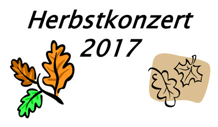 Herbstkonzert 2017 Plakat